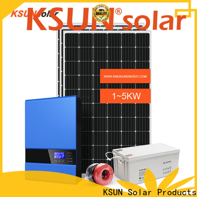 KSUNSOLAR Wholesale off grid solutions factory For photovoltaic power generation