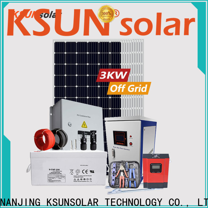 KSUNSOLAR solar panels off grid power systems factory for Environmental protection