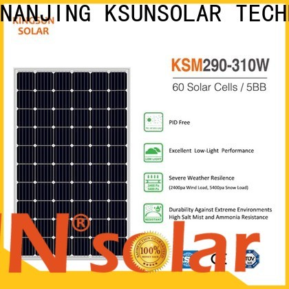 KSUNSOLAR monocrystalline solar panel suppliers company For photovoltaic power generation