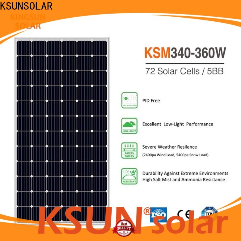 KSUNSOLAR monocrystalline solar panel manufacturers Supply for powered by