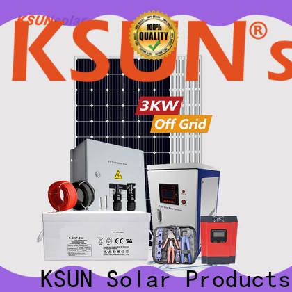 KSUNSOLAR best off grid solar system manufacturers for Environmental protection