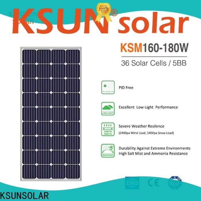 KSUNSOLAR Latest monocrystalline solar panel for business For photovoltaic power generation