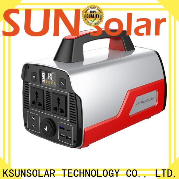 KSUNSOLAR portable solar power generator manufacturers for Environmental protection