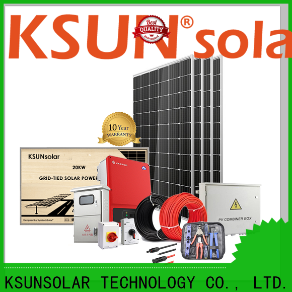 KSUNSOLAR Wholesale grid tied solar panel system Supply for Energy saving