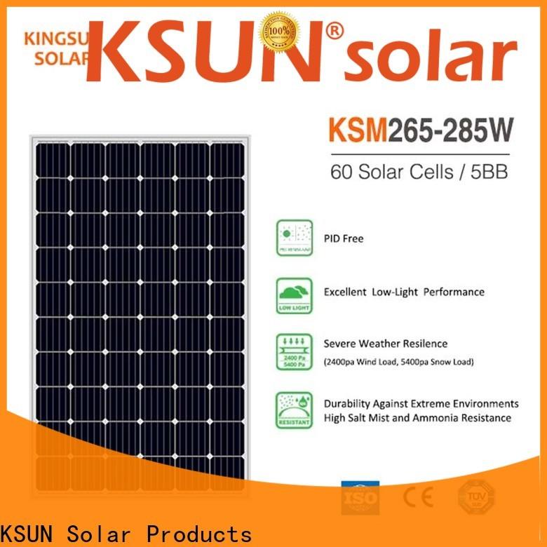 KSUNSOLAR monocrystalline solar panel manufacturers company For photovoltaic power generation