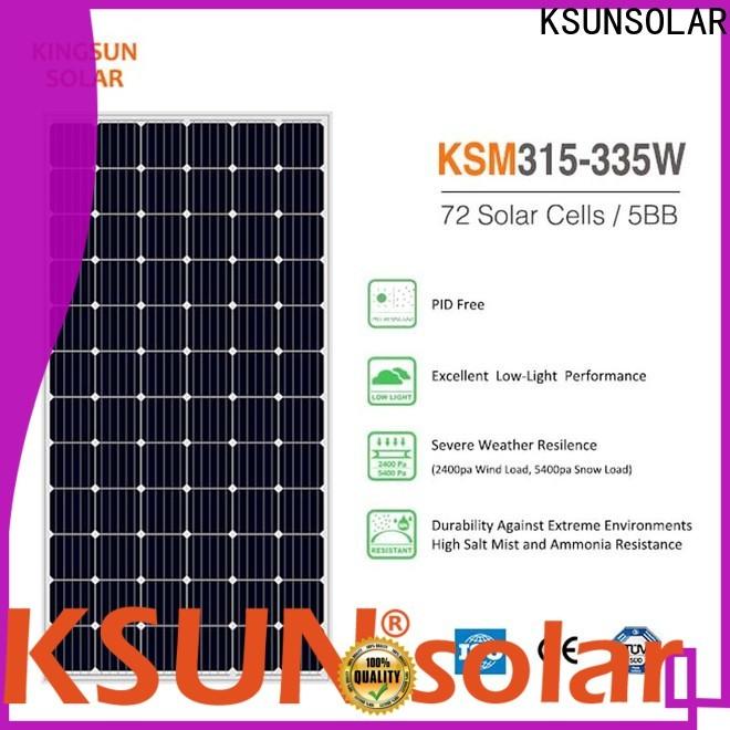 KSUNSOLAR Custom monocrystalline solar panels for sale manufacturers For photovoltaic power generation