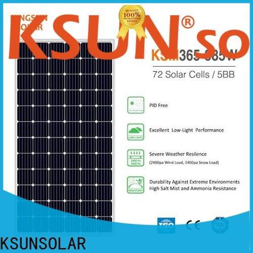 KSUNSOLAR monocrystalline solar panels for sale factory for Environmental protection
