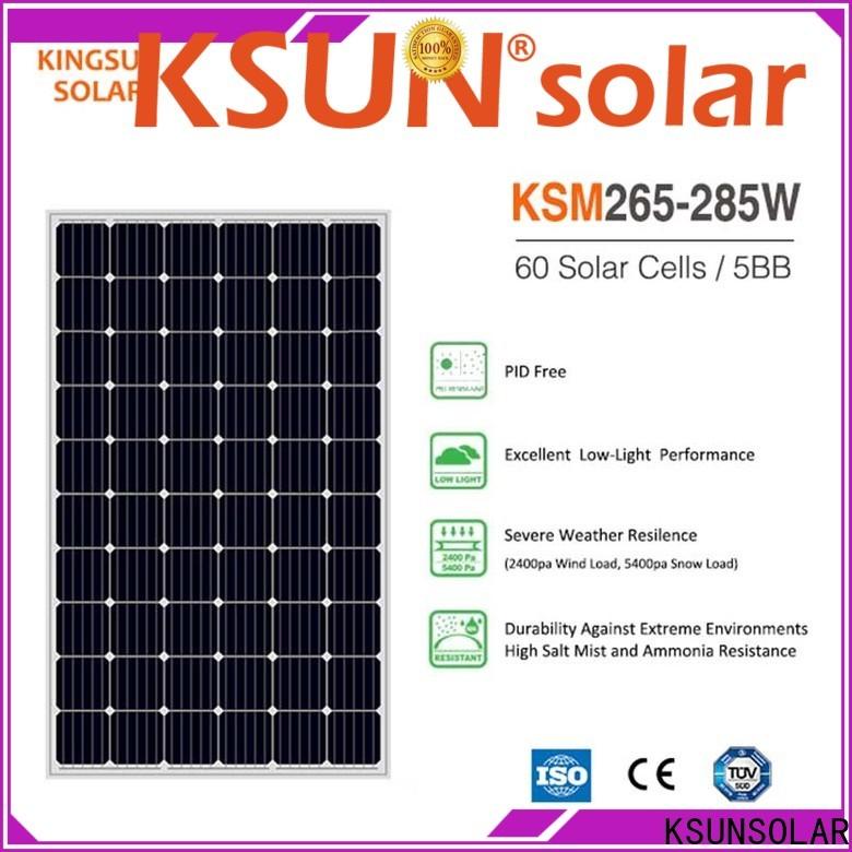 KSUNSOLAR best monocrystalline solar panel brands company for Environmental protection
