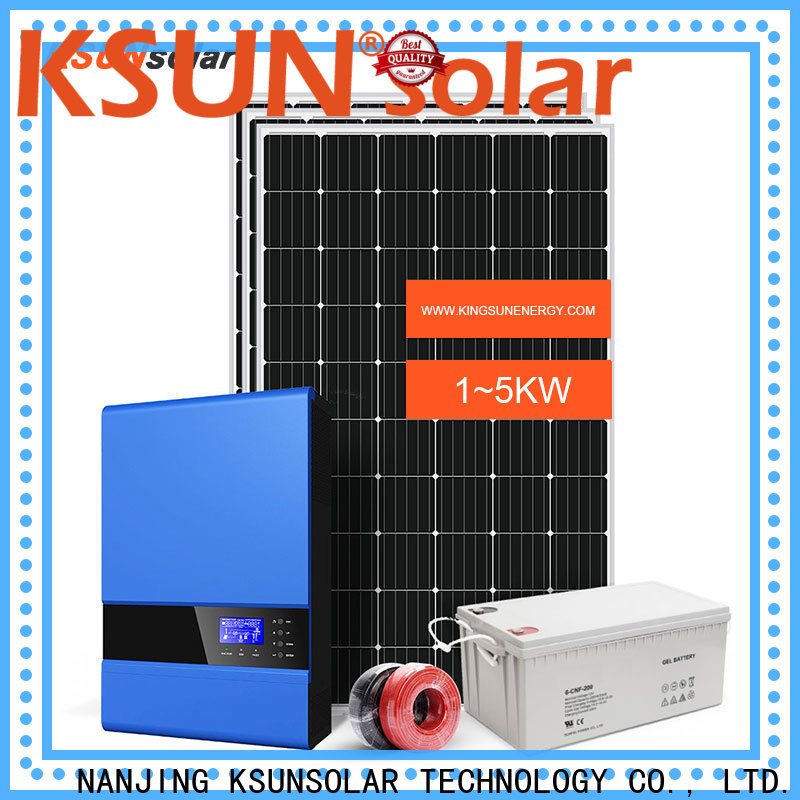 KSUNSOLAR Latest off grid solar systems manufacturers factory for Environmental protection